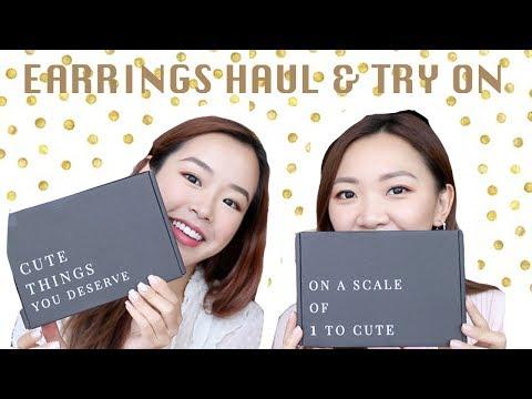 新入手耳環 EARRINGS HAUL & TRY ON ft.ohsonicole | ELI