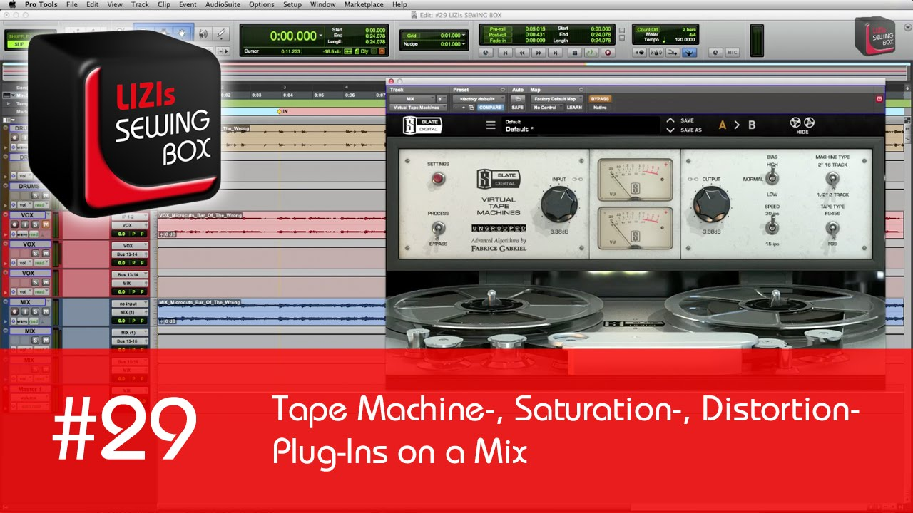 tape machine saturation distortion plug ins on a mix 29 lizis sewing box youtube. Black Bedroom Furniture Sets. Home Design Ideas