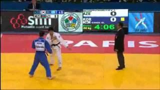 JUDO 2011 World Championships: Ilgar Mushkiyev (AZE) - Gwang-Hyeon Choi (KOR)