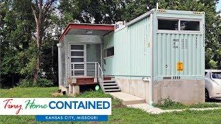 Tiny Shipping Container Home In Kansas City, Missouri, Usa