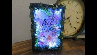 Tricia's Creations: Lighted Butterfly Shadowbox for Mother's Day