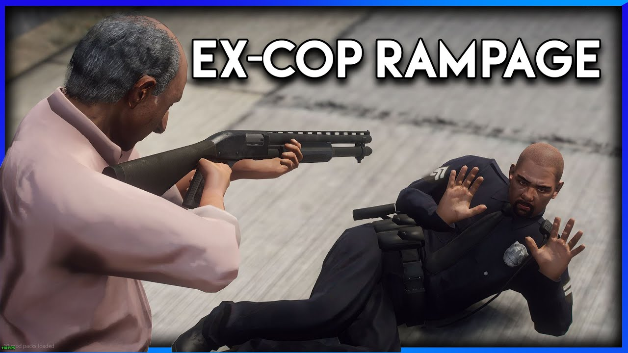 GTA RP   CRAZY EX-COP GOES ON A RAMPAGE