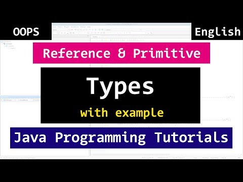 Java  Reference and Primitive Data Types | Java Object Oriented Video Tutorials