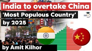 India to takeover China to become Most Populated Country by 2025 - China's population declines