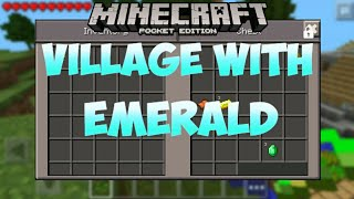 A VILLAGE WITH EMERALDS!! | Seed Review | Minecraft Pocket Edition 0.9.4