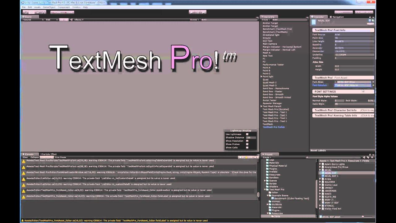 TextMesh Pro - Font Asset Material Duplication