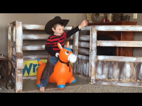how to make a mechanical bull with a barrel