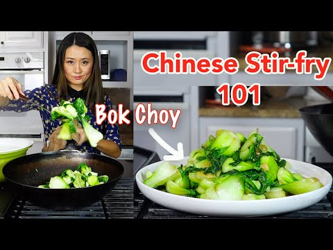 Chinese Stir fry Baby Bok Choy with Garlic-Best Method