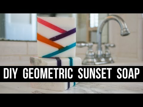 DIY Geometric Sunset Soap (Beginner and Kid Friendly!) | Royalty Soaps