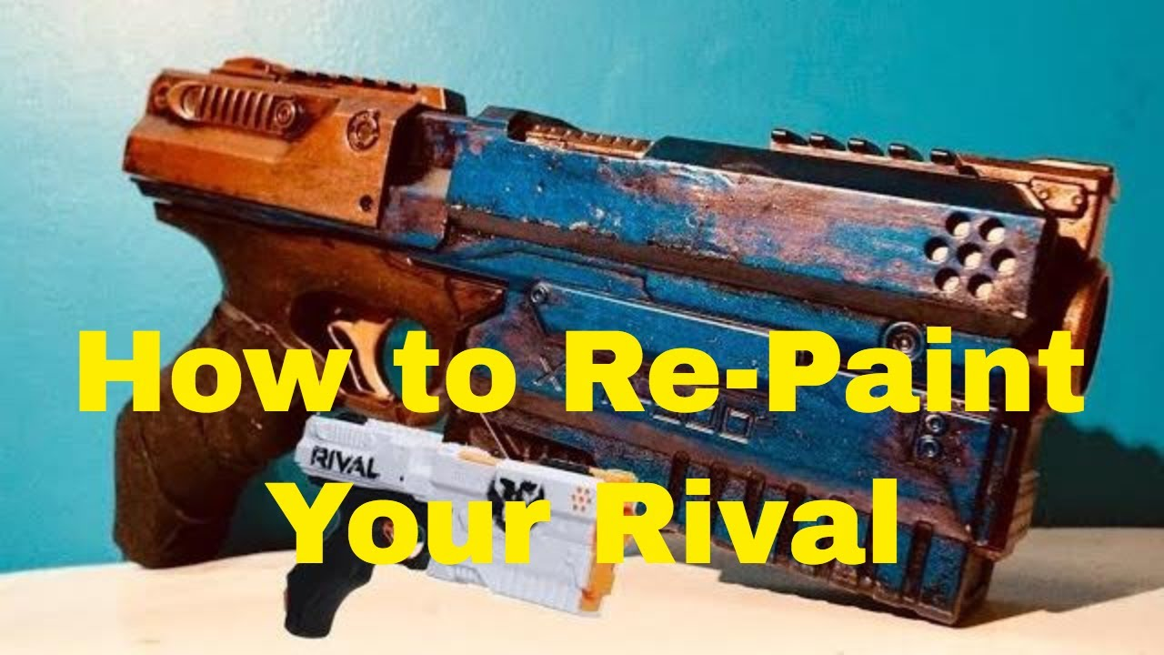 How To Repaint The Nerf Rival Kronos For A Prop Or Cosplay Youtube