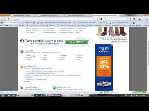 Internet Alexa - What is Alexa Traffic Rank - Understanding Alexa - Alexa Tutorial