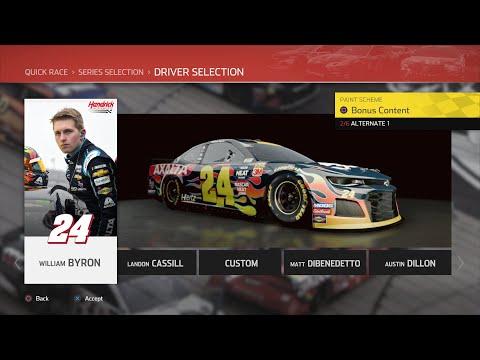 NASCAR Heat 4 - William Byron @ Talladega (Axalta NH Decal) |