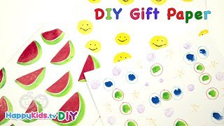 Handmade Gift Wrapping Paper | Art and Crafts | Kid's Crafts and Activities | Happykids DIY