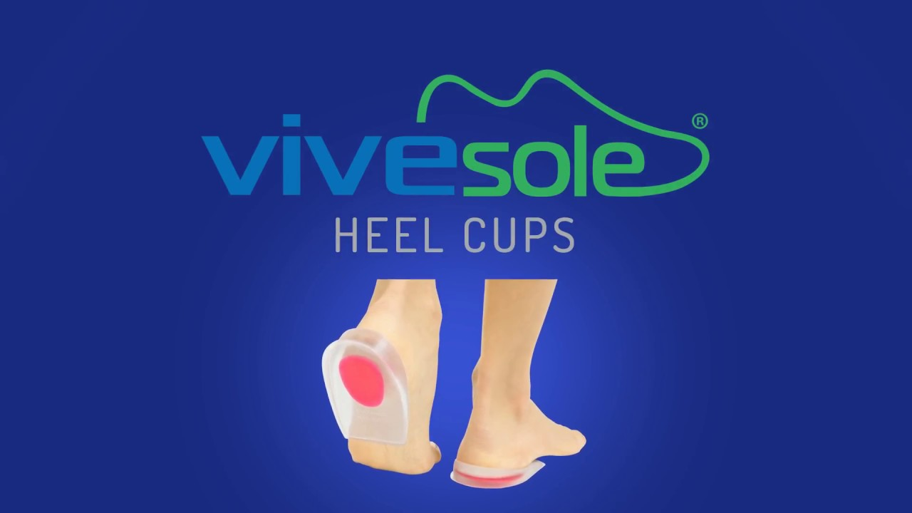 9d8ce34871 Heel Cups by ViveSole - Best Silicone Gel Shoe Inserts For Plantar Fasciitis,  Heel Pain, Spurs