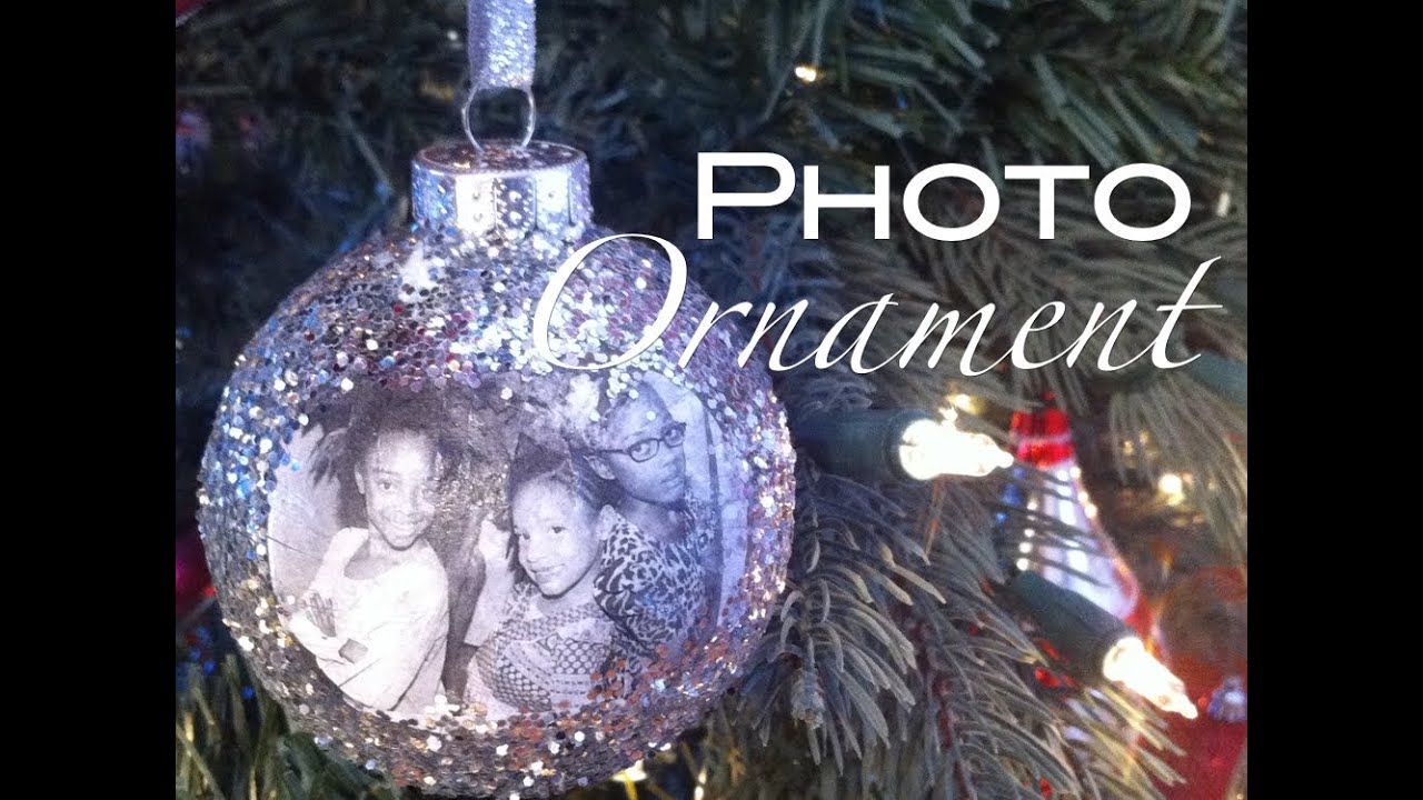 how to make a photo ornament christmas holiday gift nik scott youtube - Glass Christmas Bulbs For Decorating