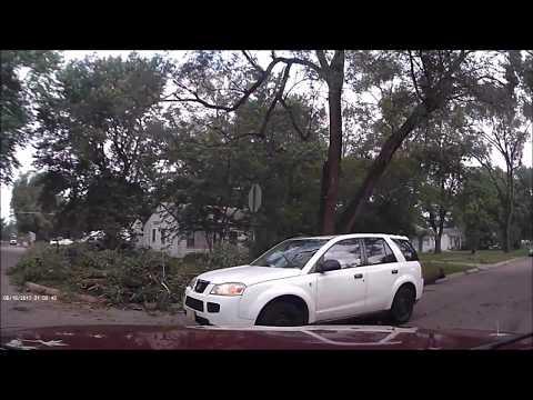 Tornado Damage Dash Cam Bellevue Nebraska