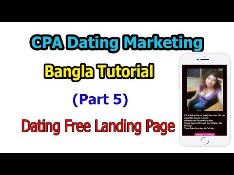 Create Dating Free Landing Page | Part 5 | CPA Dating Marketing Bangla Tutorial