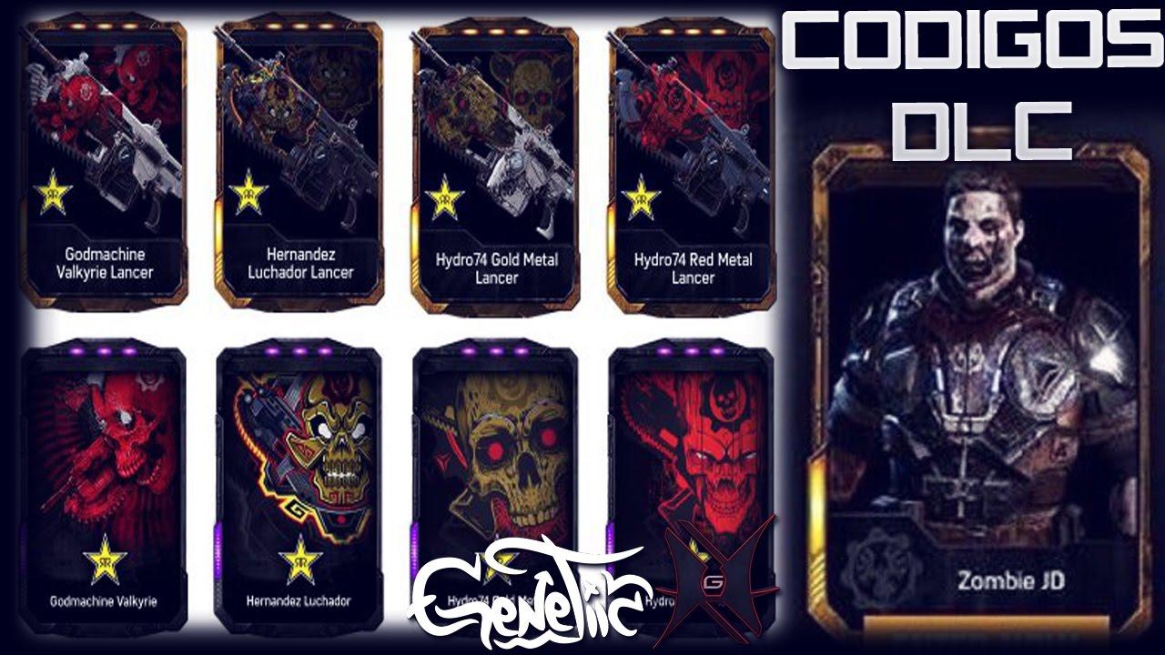 Gears Of War 4 Codigos DLC Exclusivos JD ZOMBIE Rockstar