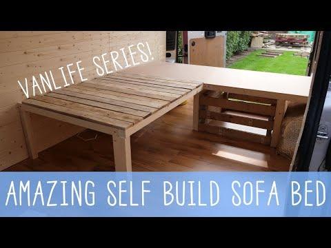 HOW TO BUILD A SOFA BED! Van Conversion Series - VANLIFE 🚐