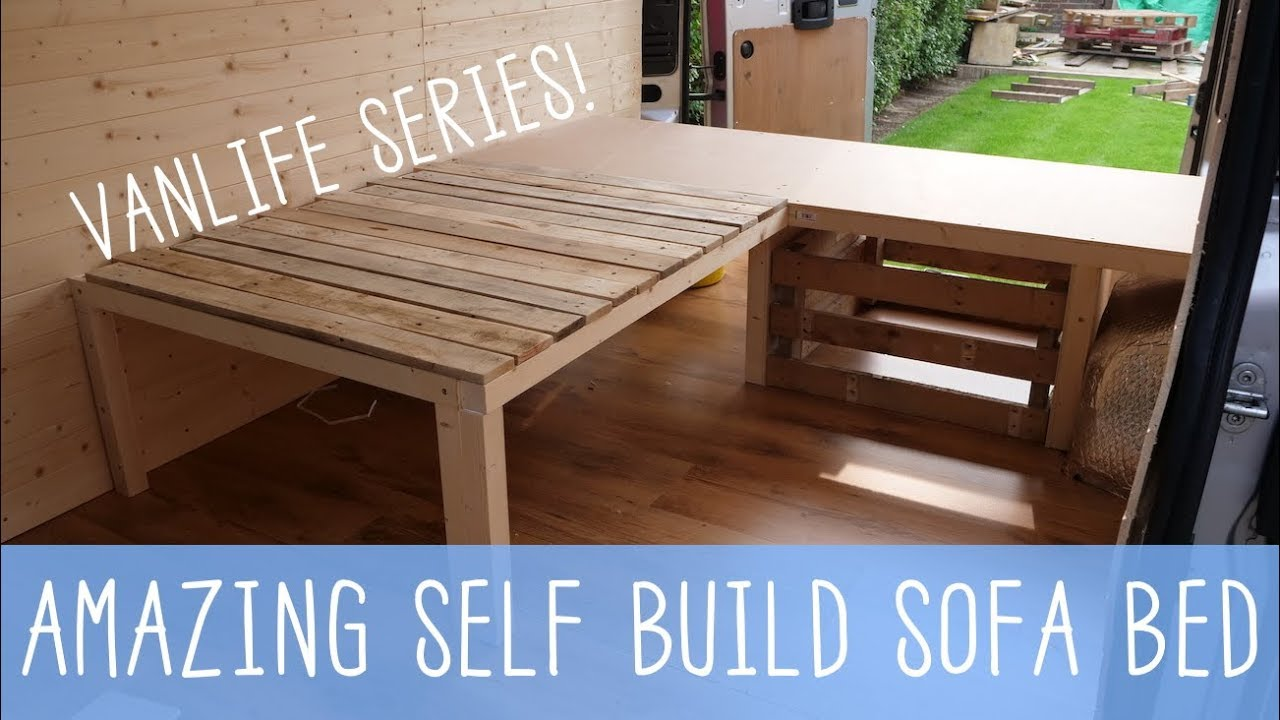 HOW TO BUILD A SOFA BED! Van Conversion Series   VANLIFE 🚐