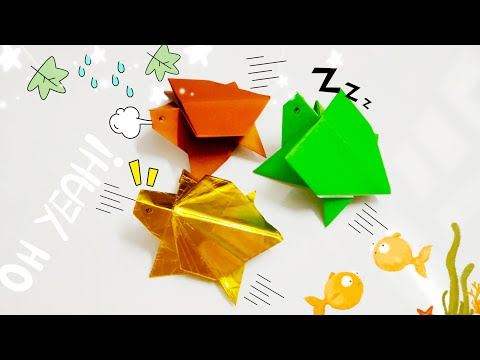 DIY Paper Origami - How to make turtle origami easy 🐢