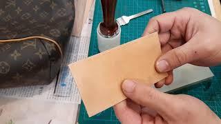[가죽공예기초] 다이아몬드 치즐 바느질 마감