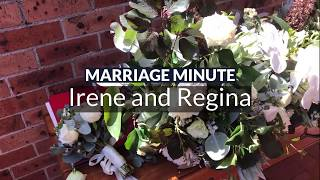 Marriage Minute - Irene and Regina - Stephen Lee - Sydney Same Sex Marriage Celebrant