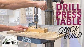 Simple Drill Press Table u0026 Fence - Quick Build