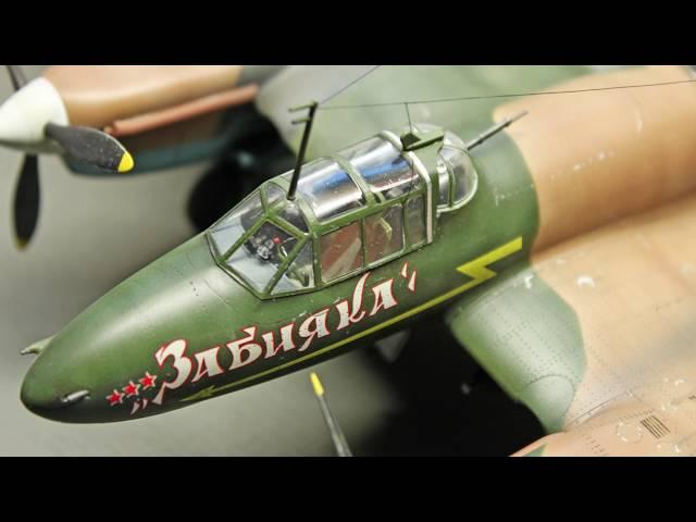 Сборка советского пикирующего бомбардировщика Пе-2 - Звезда 1:48 - 4809 - шаг 8. Дорисовываю сколы, выхлоп, и натягиваю антенну.