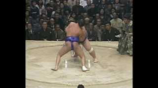 Kotogaume vs. Wakashimazu : Haru 1986 (琴ヶ梅 対 若嶋津)