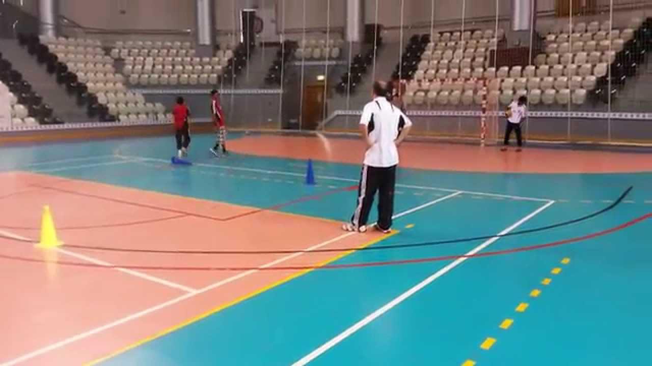 تمارين الخداع كرة يد| صغار نادي الجزيرة