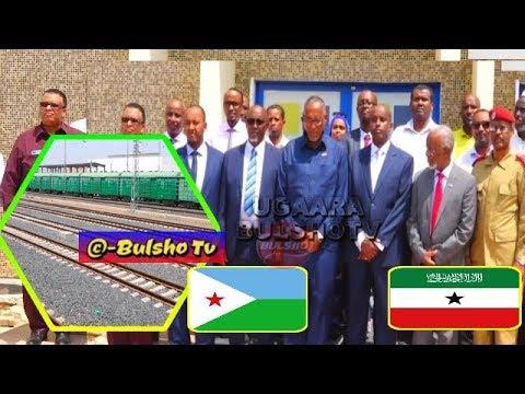 Madaxweyne Muuse Biixi Oo Booqday Jidka Tareenka Iyo Xarunta Djibouti Telecom Kana Hadlay,,