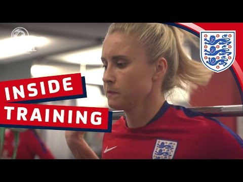 Gym Session & Goalkeeper Prep - England v France (2017 SheBelieves Cup) | Inside Training