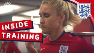 Gym Session & Goalkeeper Prep - England v France (2017 SheBelieves Cup) | Inside Training