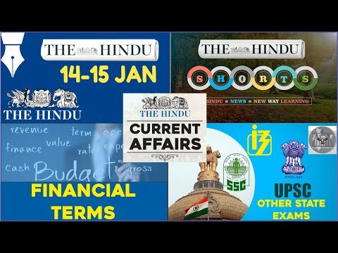 CURRENT AFFAIRS | THE HINDU | 14th - 15th January 2018 | UPSC,IBPS, RRB, SSC,CDS,IB,CLAT