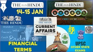 CURRENT AFFAIRS | THE HINDU | 14th - 15th January 2018 Part 1  | UPSC,IBPS, RRB, SSC,CDS,IB,CLAT