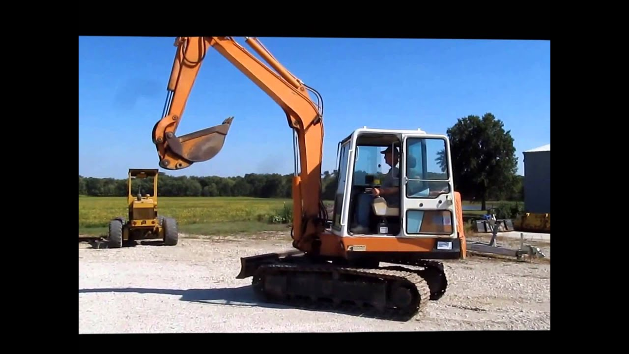 1995 Daewoo DH50 mini excavator Demo