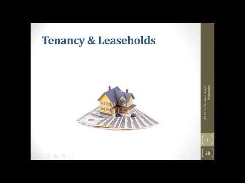 Business Law   Tenancy & Leaseholds