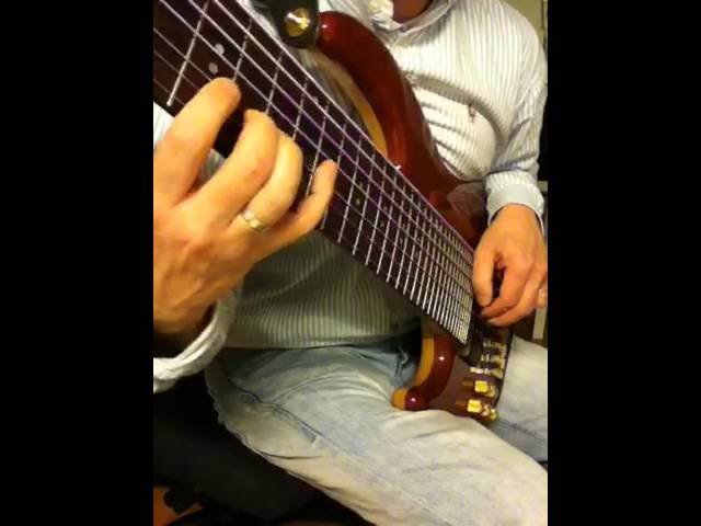 Davy de Wit 7-string bass practicing