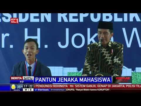 Tawa Jokowi Mendengar Pantun Jenaka Mahasiswa UMB