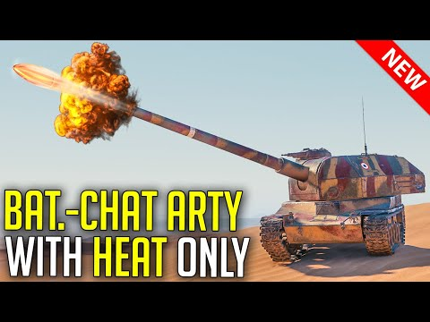 Only New HEAT in AutoReloading SPG | World of Tanks Bat.-Chat 155 58 - SandBox Artillery Rework