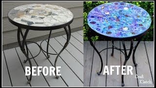 Glam Resin Table Makeover ~ Garbage to Gorgeous® Episode #17 ~ Craft Klatch ~ DIY
