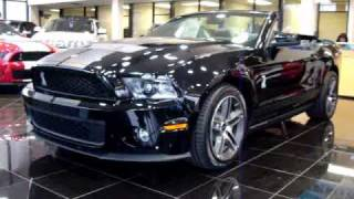 2010 Ford Mustang Shelby GT500 Cobra Black Convertible LOADED