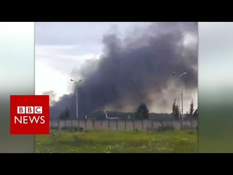 Many feared dead after military plane crash in Algeria - BBC News