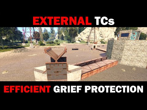 Efficient External TCs for Grief Protection   Rust Base Building
