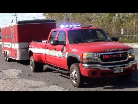 Fire Trucks Responding To A Working Brush Fire In Carlstadt 10-3-17