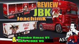 """[""""ETS2"""", """"Euro Truck Simulator 2"""", """"trailer pack JoachimK JBK - Combo Xmas V1 & SKO COKE V6 review""""]"""