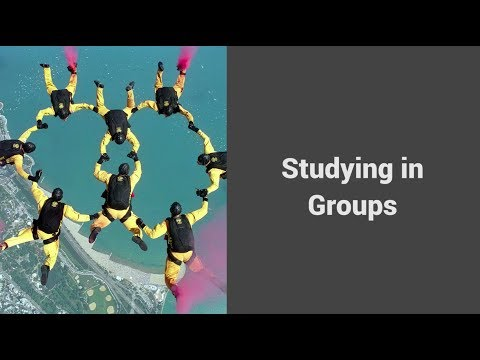 MOOC USSV101x | How to Study for Technical Courses | Studying in Groups