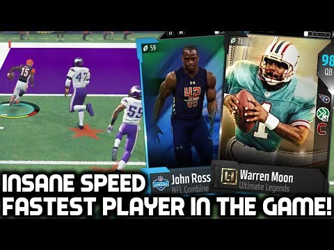 FASTEST PLAYER IN THE GAME! JOHN ROSS, JADEVEON CLOWNEY, & MOON! Madden 18 Ultimate Team