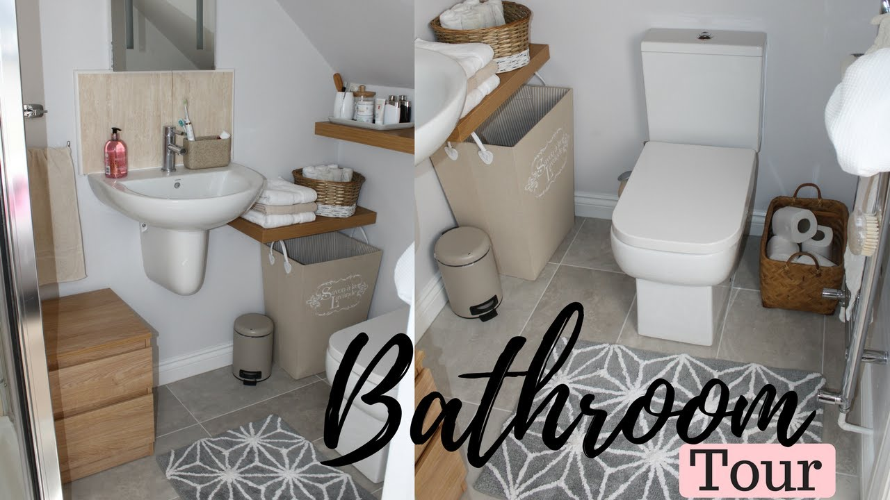 Small Bathroom Tour And Organisation Tips For Small Spaces Youtube
